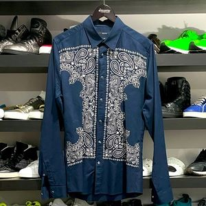 GUCCI BUTTON UP LONG SLEEVE PAISLEY